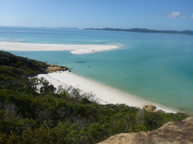 Beautiful Whitsunday Island beach.