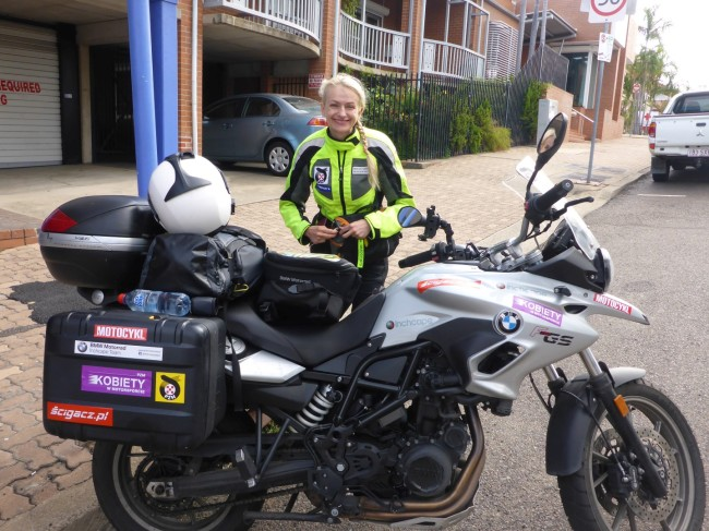 Anna, a Polish biker who I met at Reef Lodge.
