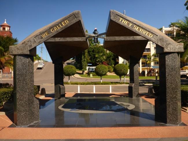 Memorial archway.