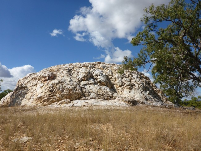 White Blow quartz outcrop.