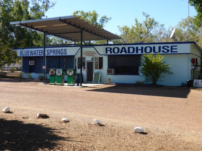 A typical outback roadhouse. Food and fuel.