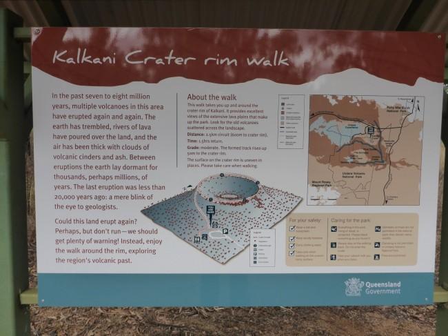 At the Kalkani crater rim. Geological history.