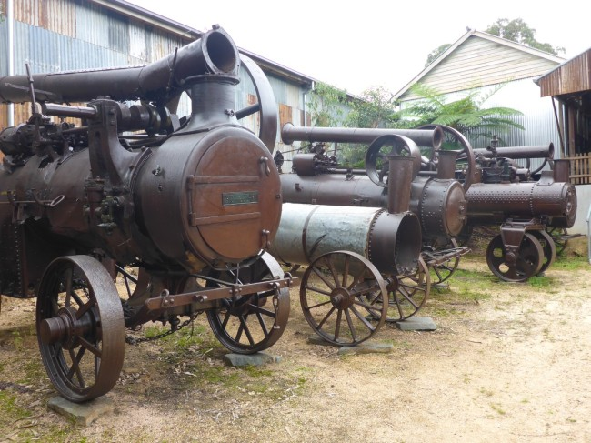 Many of these old traction engines were British made.
