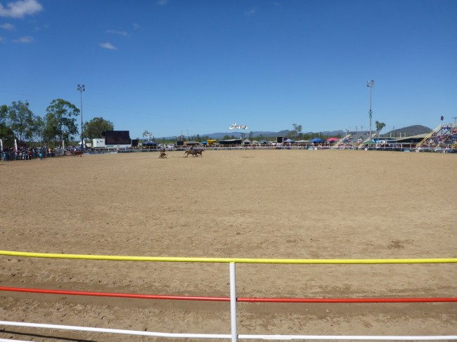 The large rodeo arena.