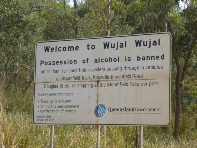 A common sign when entering Aboriginal areas.