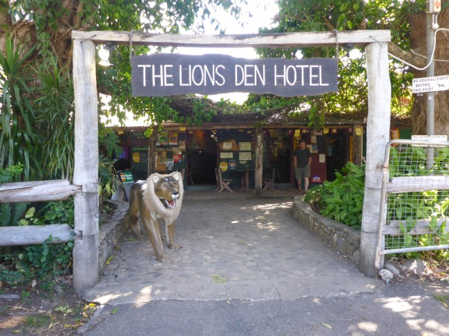 Lions Den pub - outside.
