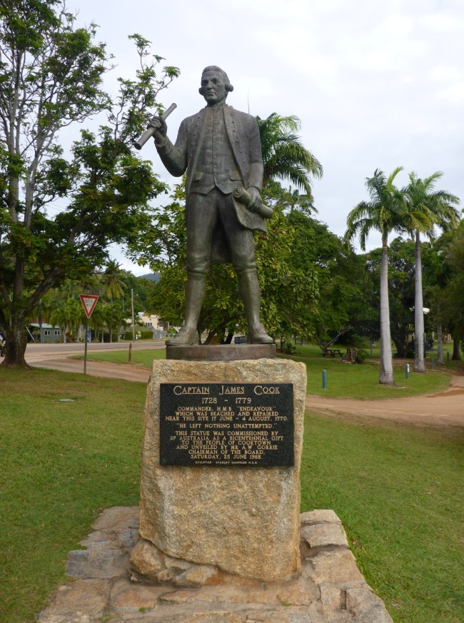Cook statue, on the foreshore.