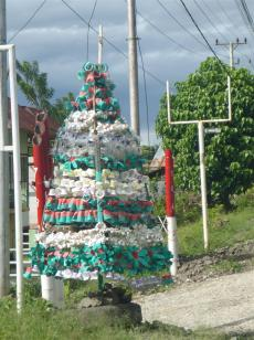 One Batak family's idea of a Christmas tree.