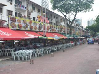 Jalan Alor, before the crowds arrive.
