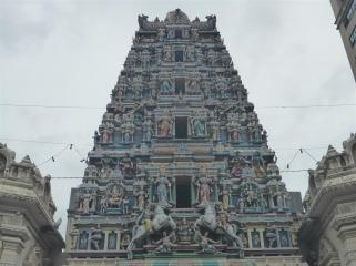 This sits on top of the gateway to the Sri Marianmman temple, near Petaling Street.