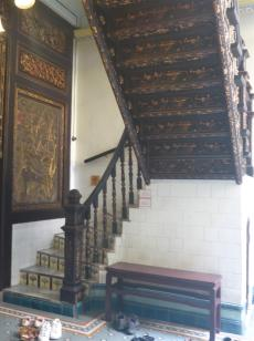 Very decorative staircase.
