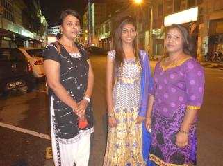 Lovely Indian ladies enjoying their night out.