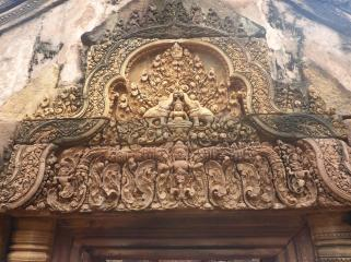 Some very intricate carving, above one of the doorways.