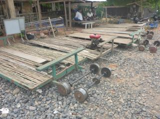 How to make a bamboo wagon.
