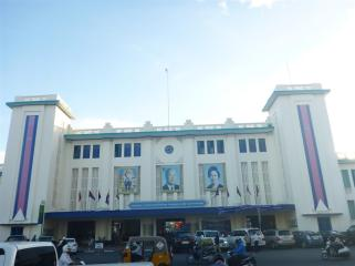 Art Deco station building.