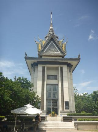 The memorial Stupa from the outside.