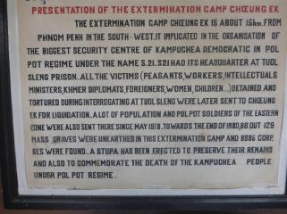 Information sign inside the camp.