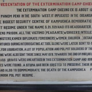 Information sign inside the camp.