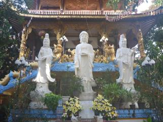 Vietnamese Buddhist temples are a little more ornate.