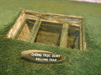 An example of the anti personnel traps that the Viet Cong used.