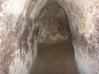 Small and cramped. Tunnels were not madefor big people.