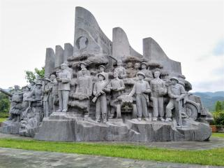 Memorial to the heroes of Dien Bien Phu.