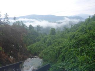 Misty valleys.