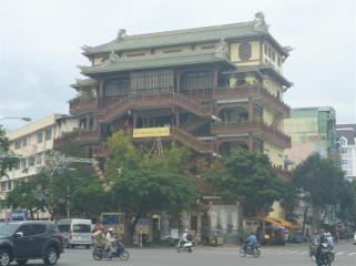 The six storied Chinese Pagoda. An unusual style for this region.